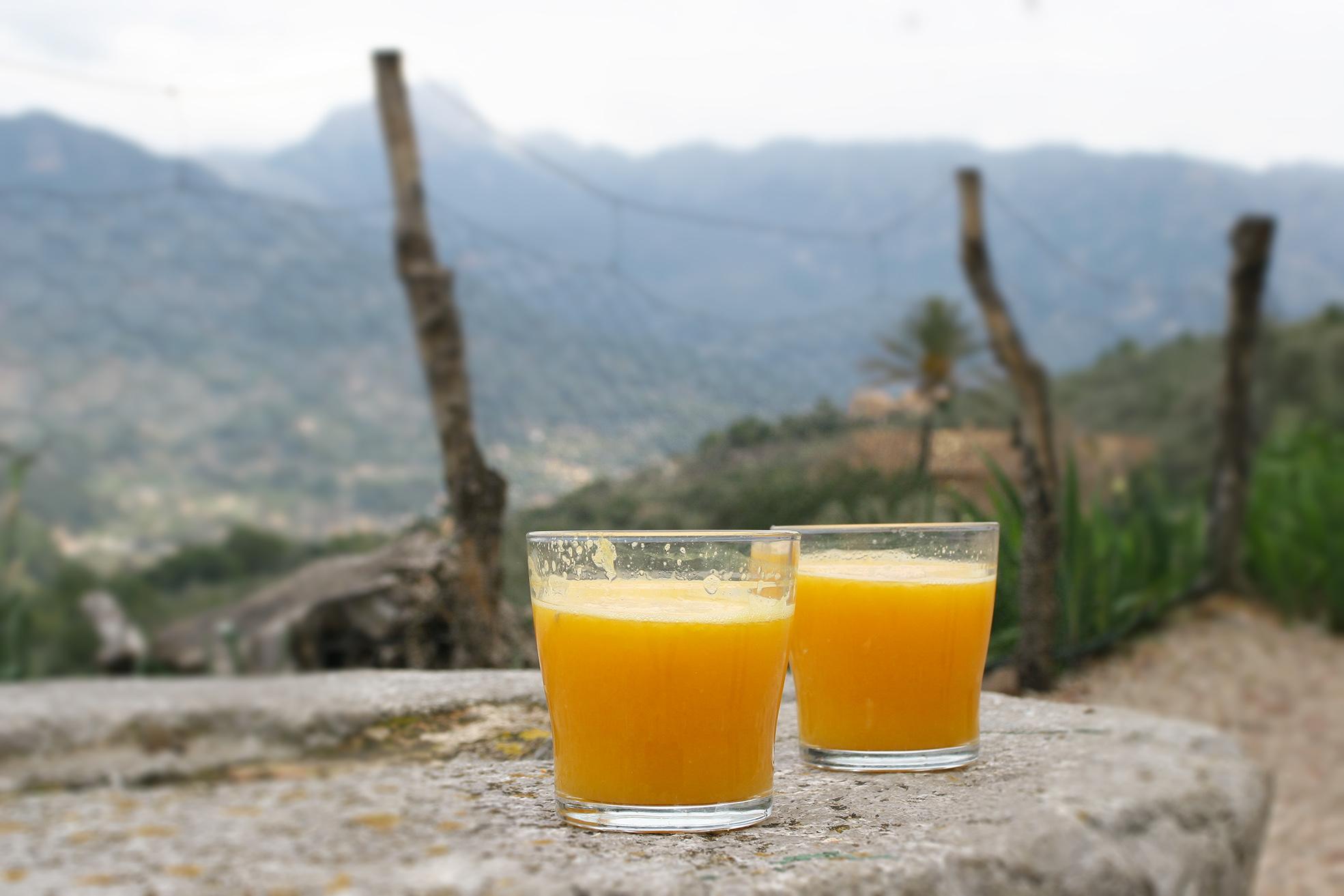 Sumo de naranja de Sòller